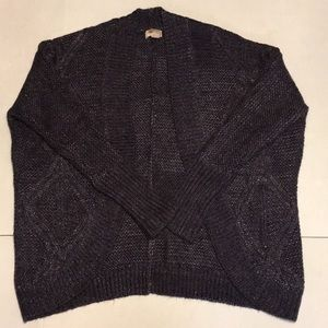 Forever21 Medium Open Front Fuzzy Cardigan Sweater